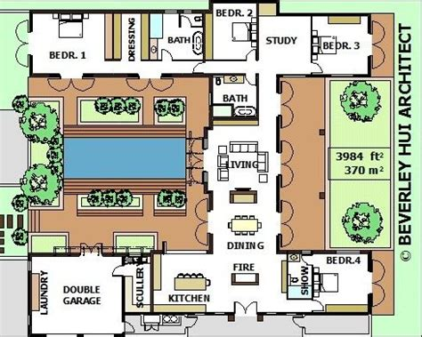 floor plan with courtyard in middle of the house 25 best ideas about courtyard house plans on pinterest