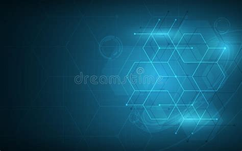 Abstract Hexagon And Cube Technology Pattern Sci Fi Innovative Background Images