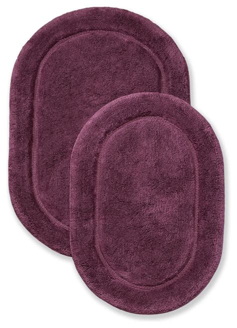 Plum 2 Bathroom Rug Set Plum Bathroom Rugs