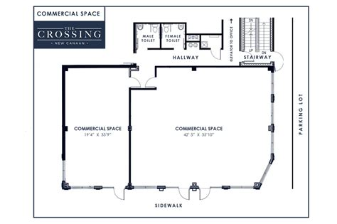 retail space floor plan street side retail spaces the crossing new canaan