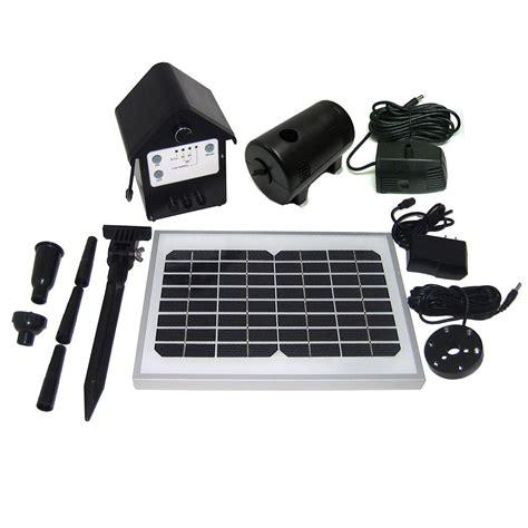 solar  gph solar hybrid fountain pond pump