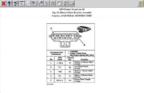 how to test heater blower motor resistor 2003 pontiac grand am heater blower switch heater problem 2003