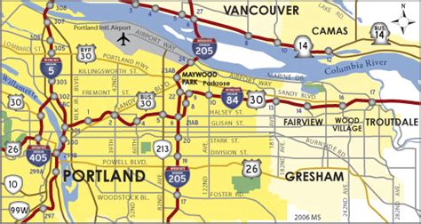 map of oregon highway 84 oregon aaroads interstate 84 westbound troutdale to
