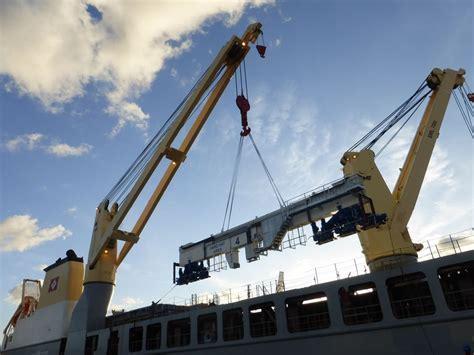 geodis transports large gantry cranes  poland  canada logistics business magazine