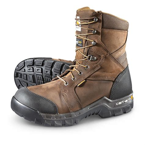 carhartt rugged flex 8 quot insulated composite toe boots 400