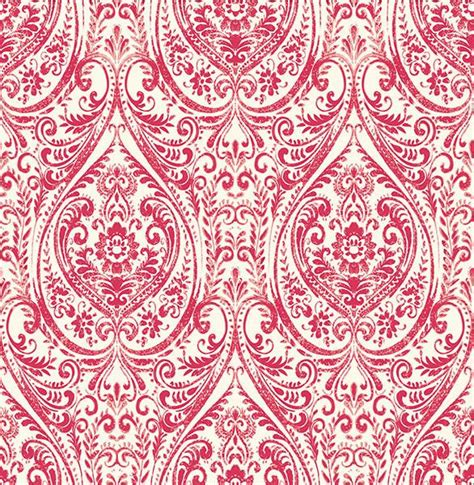 red damask wallpaper home decor gypsy red damask wallpaper from the kismet collection by