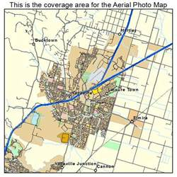 aerial photography map of vacaville ca california