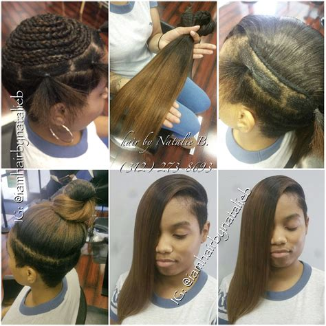 versatile sew in 169 hair weave by natalie b icartistry natural looking versatile sew in hair weave on client