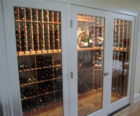 glass enclosed wine cellars traditional wine cellar