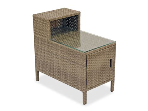 outdoor storage end table resin wicker occasional tables outdoor occasional tables