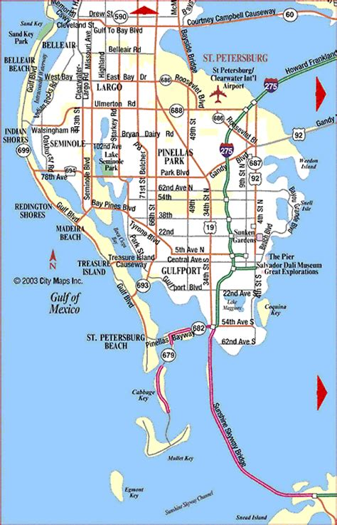 road map of st petersburg petersburg florida
