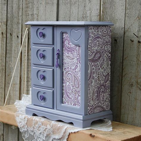 shabby chic jewelry armoire jewelry box armoire shabby chic french lavender purple