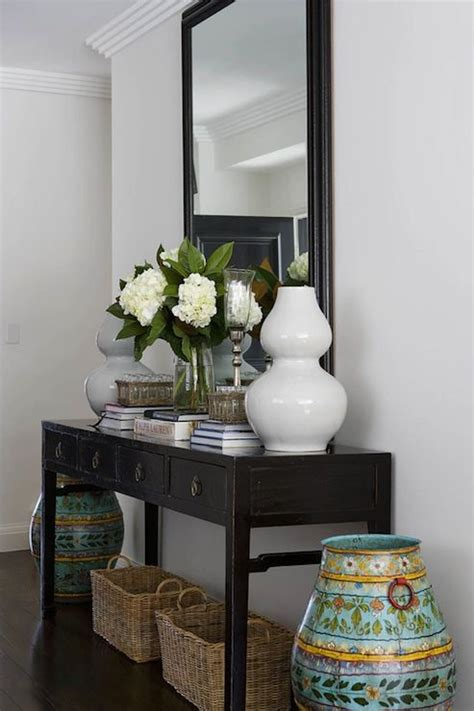 Entrance Tables And Mirrors Best 25 Foyer Table Decor Ideas On Pinterest Console Table Decor Entry Table Decorations And
