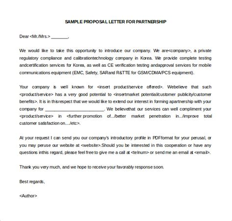 Letter Of Intent For Business Plan sle business partnership letter the best letter sle