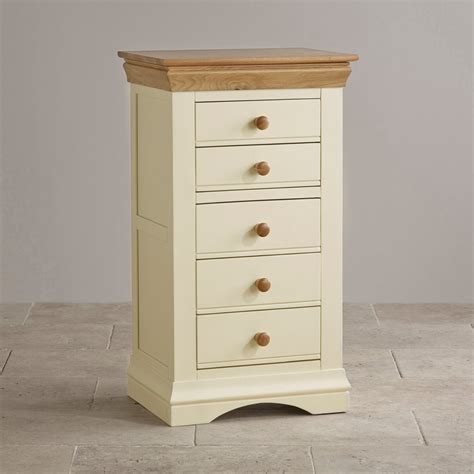 cottage furniture uk country cottage oak and painted 5 drawer chest