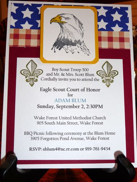 eagle scout thank you card template 68 best images about scouts eagle scout invitations on