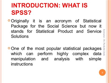 Is An Mba Important For A Data Scientist by Research Methodology Mba Ii Sem Introduction To Spss