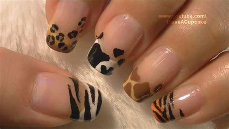 nail art tutorial animal print animal prints nail art tutorial arte para las u 241 as con