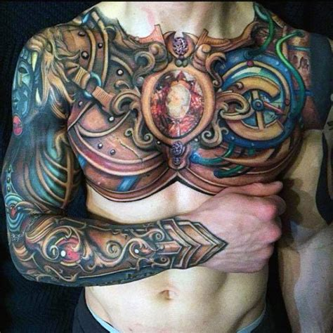 full chest piece tattoo designs top temporary images for tattoos