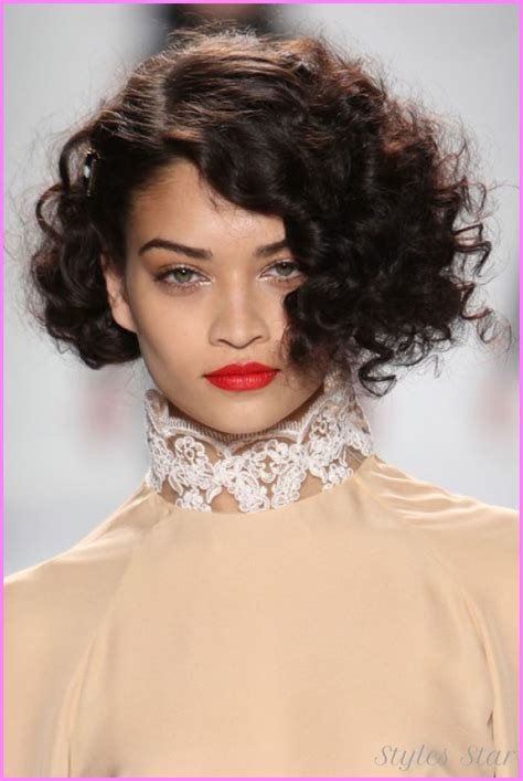 trendy haircuts short curly hair short curly haircuts for stylesstar com