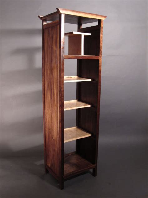tall narrow bookcase modern wood furniture mid century