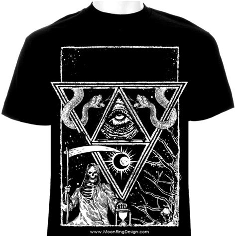 black and white pattern shirt triangle death frame t shirt design black deat by