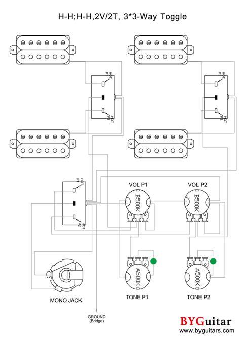 H-H; H-H, 2V, 2T, 3x3-Way Toggle - BYGuitar