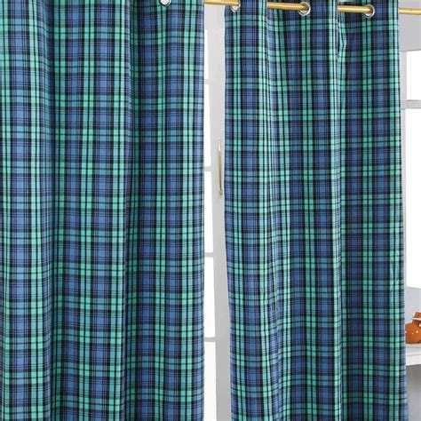 tartan curtains and cushions blackwatch tartan eyelet curtains pair filled cushions