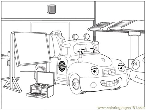 trevor tow truck coloring page free special transport