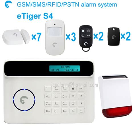 etiger s4 android iphone app wireless gsm pstn home security alarm system german