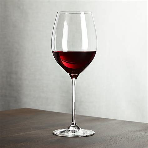 wine glass oregon red wine glass crate and barrel