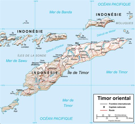 east timor map asia map of east timor relief map worldofmaps net