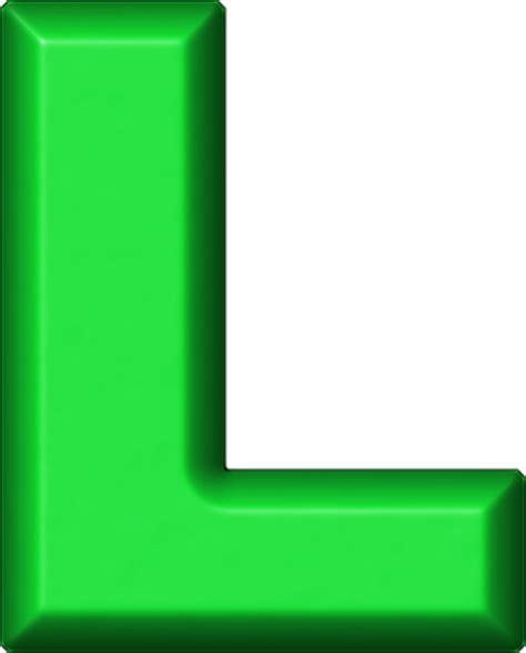 Green L presentation alphabets green refrigerator magnet l