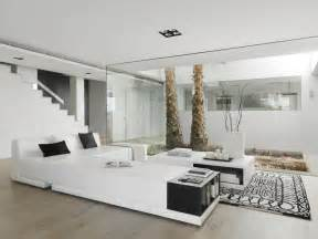 White Home Interiors by Beautiful Houses Pure White Interior Design