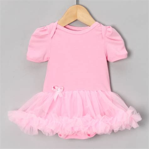 Romper Tutu Pink Limited solid pink baby romper dress tutu jumpsuit bebe newborn shortalls baby one pieces