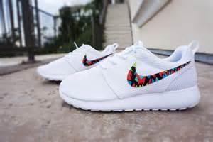 nike all white shoes womens custom nike roshe run sneakers from custom sneakz