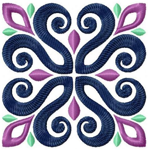 embroidery design motifs 12 tiles square blocks machine embroidery designs set