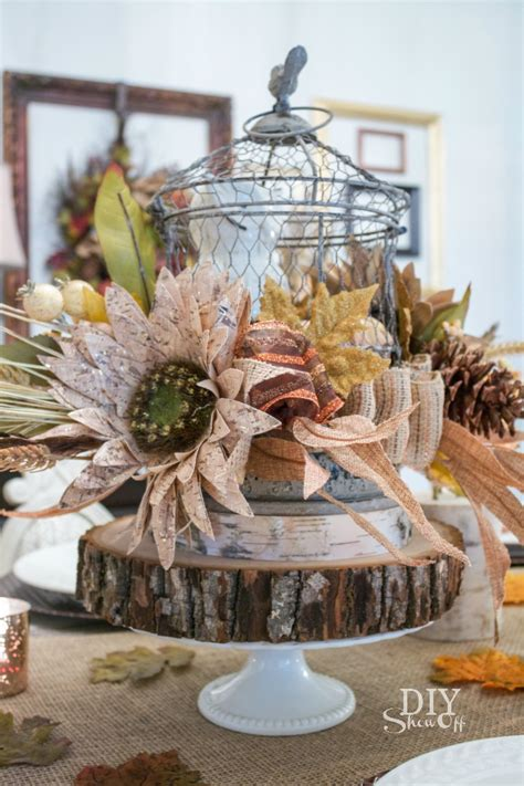 home decor centerpieces decorative fall centerpiece diy show off diy decorating and home improvement blogdiy show
