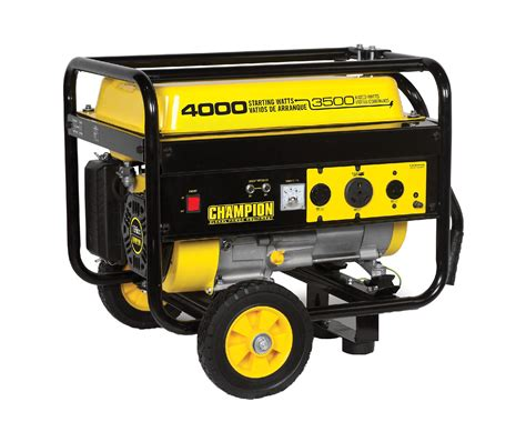 Or Generator Chion Power Equipment 46597 3500 4000 Watt Portable Gas Generator With Wheel Kit