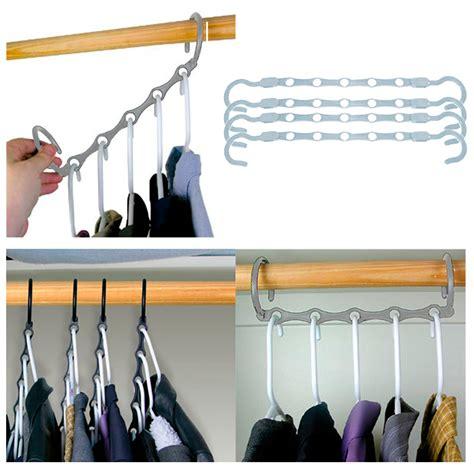 Wardrobe Hooks Hangers - new lot 4 space saver magic clothes hangers closet