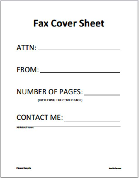 cover page letter free fax cover sheet template printable