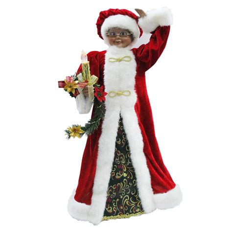 shop holiday living animated mrs claus figurine at lowes com