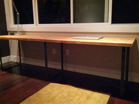 make your own desk using modern table legs
