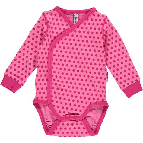 ls for baby nursery maxomorra cerise dots ls wrap body