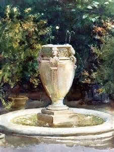 Discount Kitchen Backsplash vase fountain pocantico landscape john singer sargent