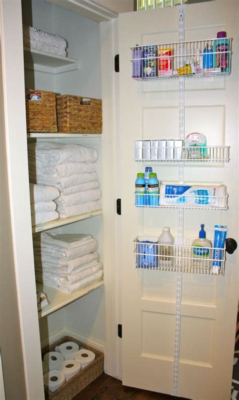 Bathroom Closet Storage Best 25 Small Linen Closets Ideas On Pinterest A Small Organize A Linen Closet And Bathroom