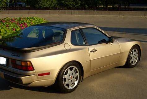 porsche 944 gold 1989 porsche 944 turbo 86k 5 speed gold black