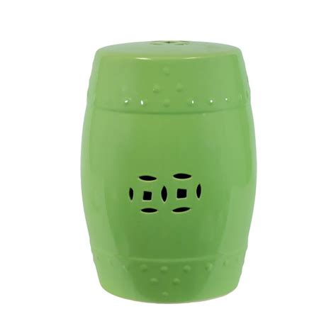 shop urban trends 18 in lime green ceramic round double