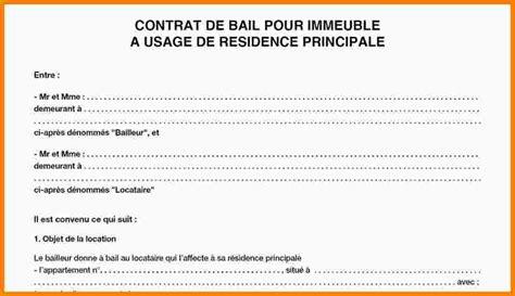 Contrat De Bail Location Meublée by Modele Contrat De Location Meuble Ordinaire Bail Location