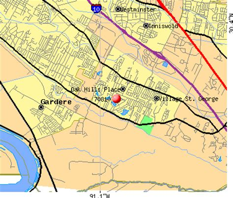 louisiana fault map 70810 zip code oak place louisiana profile